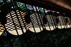 Veel van sferische inrichtingen, Reeks lampen royalty-vrije stock fotografie