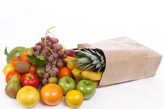 Veel vers fruit in de zak Stock Foto