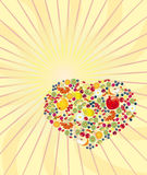Veel vitamine van C Vector Illustratie