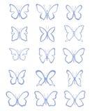 Veel vlinders - illustratie Stock Afbeeldingen