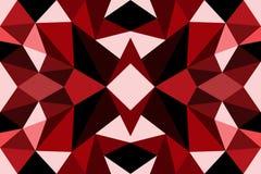 Veelhoek Abstract rood Stock Foto's