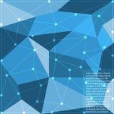 Veelhoek abstracte achtergrond Stock Foto
