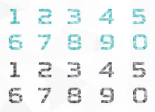Veelhoek geometrisch karakter - plaats, veelhoek geometrische vector, alfabet vastgestelde vector Royalty-vrije Stock Foto