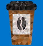 Veelhoek van beschikbare koffiekop Royalty-vrije Stock Afbeeldingen