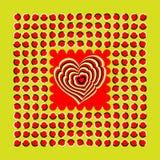Veelhoeken en hart royalty-vrije illustratie