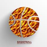 Veelhoekig basketbal vectorconcept als achtergrond Stock Afbeeldingen