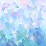 In veelhoekig de winter blauw patroon Achtergrond van driehoeken Vectorillustratie, ontwerpelement voor dekking, banners royalty-vrije stock afbeelding