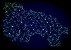 Veelhoekig Draadkader Mesh Vector Abstract Map van Spanje - La Rioja vector illustratie