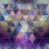 Veelhoekig driehoeks ononderbroken Patroon in viooltje, roze, wit blauw, stock illustratie