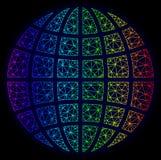 Veelhoekig Karkasspectrum Mesh Vector Globe royalty-vrije illustratie