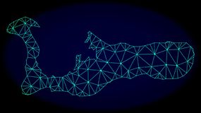 Veelhoekig Netwerk Mesh Vector Abstract Map van Grand Cayman-Eiland vector illustratie
