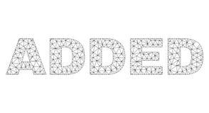 Veelhoekig Netwerk TOEGEVOEGD Tekstlabel vector illustratie
