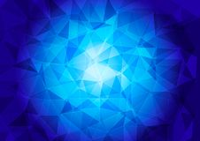 Veelhoekig patroon op een blauwe achtergrond vector illustratie