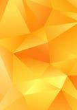 Veelhoekig van driehoeksvormen vector abstract geel malplaatje als achtergrond Stock Foto
