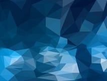Veelhoekige abstracte achtergrond in diepe blauwe kleur royalty-vrije illustratie