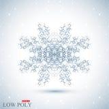 Veelhoekige abstracte achtergrond Lage poly, molecule en communicatie met verbonden punten, lijnen Vector illustratie Stock Foto