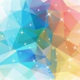 Veelhoekige abstracte meetkundeachtergrond met glanzende elementen vector illustratie