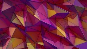 Veelhoekige abstracte oppervlakte 3D Semless de lijn geeft terug stock illustratie