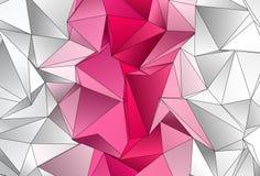 Veelhoekige achtergrond Abstracte driehoekige textuur Royalty-vrije Stock Foto's