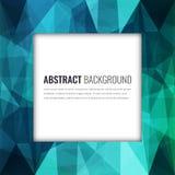 Veelhoekige achtergrond met abstract multicolored mozaïek Vector stock illustratie