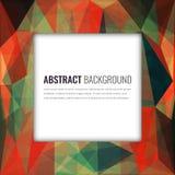 Veelhoekige achtergrond met abstract multicolored mozaïek Vector vector illustratie