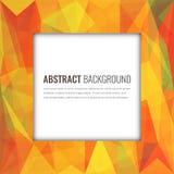Veelhoekige achtergrond met abstract multicolored mozaïek Vector royalty-vrije illustratie