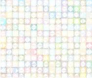 Veelhoekige betegelde achtergrond in veelvoudige kleur over wit stock illustratie