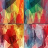 Veelhoekige die achtergronden met abstract multicolored mozaïek worden geplaatst Vector Vector Illustratie