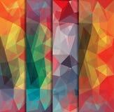 Veelhoekige die achtergronden met abstract multicolored mozaïek worden geplaatst Vector royalty-vrije illustratie