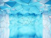 Veelhoekige futuristische zaal Stock Foto