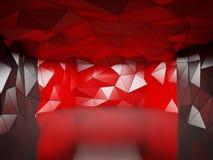 Veelhoekige futuristische zaal Stock Afbeeldingen