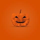 Veelhoekige Halloween-pompoen stock illustratie
