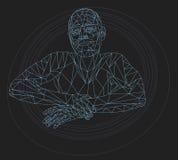 Veelhoekige Ontspannende Mens Geometrische illustratie Stock Foto's