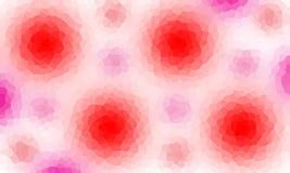 Veelhoekige roze bloemenachtergrond Royalty-vrije Stock Afbeelding