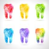 Veelhoekige vectorreeks tanden vector illustratie