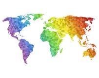 Veelhoekige wereldkaart Royalty-vrije Stock Foto's