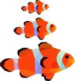 Veelhoekillustratie van clownvissen Nemo stock illustratie