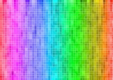 Veelkleurig abstract het pixelbehang van de regenboog vector illustratie