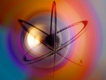 Veelkleurig atoom - Vector Illustratie
