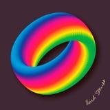 Veelkleurig bedrijfs abstract cirkelpictogram voor uw ontwerp logotype Vector illustratie Stock Afbeeldingen