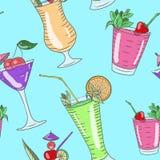Veelkleurig cocktailpatroon Stock Fotografie