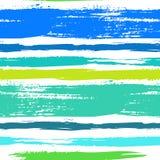Veelkleurig gestreept patroon met geborstelde lijnen Royalty-vrije Stock Afbeelding