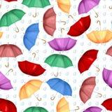 Veelkleurig naadloos paraplu'spatroon royalty-vrije illustratie
