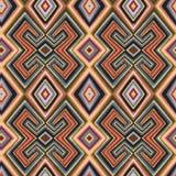 Veelkleurig naadloos patroon met de geometrische tekening royalty-vrije illustratie