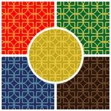 Veelkleurig naadloos vectorpatroon Stock Afbeeldingen