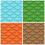 Veelkleurig naadloos vectorpatroon Stock Foto's