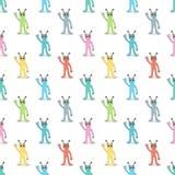 Veelkleurig vreemdelingen naadloos patroon Royalty-vrije Stock Afbeeldingen