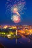 Veelkleurig Vuurwerk Stock Foto's