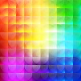 Veelkleurige abstracte achtergrond van halve cirkels Royalty-vrije Stock Afbeeldingen