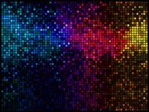 Veelkleurige abstracte discoachtergrond Stock Afbeeldingen